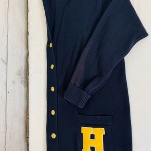 Tommy Hilfiger Sweaters - TOMMY HILFIGER varsity letterman cardigan sweater